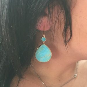 Ippolita turquoise 18k gold earrings